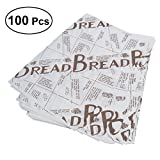 UPKOCH 100 Stücke Lebensmittel Geschenkpapier Backen Pergament Wachspapier Öl Proof Papier für Brot Sandwich Burger Pommes Ölpapier - Kaffee Englisch