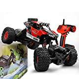 Gizmovine RC Cars 4WD Rock Crawler Large Size Boys Remote Control Cars and Trucks 2.4Ghz Transformer Toy Electronic Monster Truck R/C Off Road for Kids, 2020 Update Version (Red)