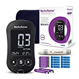 KetoSens Blood Ketone Monitoring Starter Kit - Ideal for Keto Diet. Includes Meter, 10 Ketone Test Strips, 10 Lancets, Lancing Device & Case