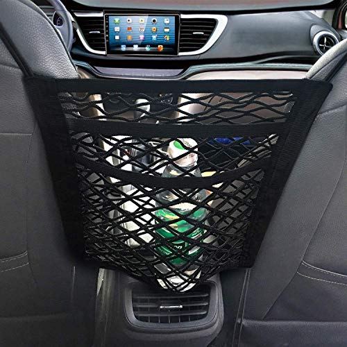 NEOUZA Auto Mesh Organizer, Seat Back Net Bag, Barrière van Backseat Huisdier Kinderen, Cargo Tissue portemonnee houder, Driver Opslag Netting Pouch. (3-laags)