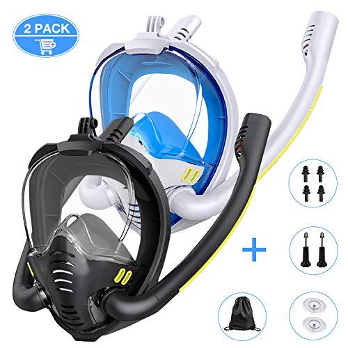 Gvoo 2pack tauchmaske schnorchelmaske...