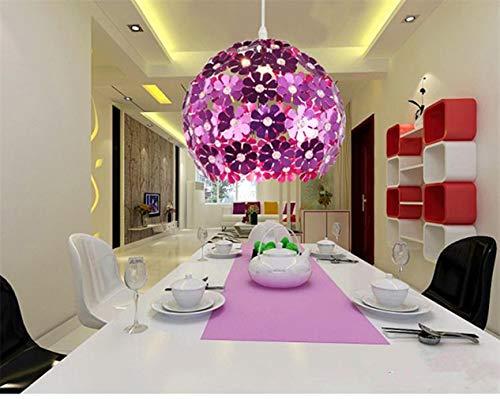 LED Ball Pendelleuchte Aluminium Kronleuchter - Moderne Einfache Deckenleuchte Dekoration(Lila)