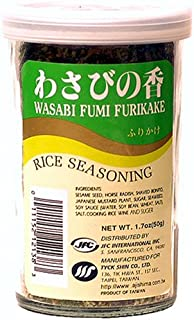 JFC Wasabi Fumi Furikake Rice Seasoning, 1.7-Ounce Jars (Pack of 4)