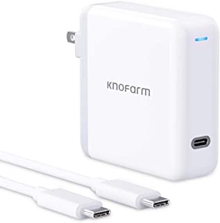 USB C Fast Charger, Knoform 61W USB C Power Adapter for MacBook Pro 2020/2018, MacBook Air, iPad Pro 12.9, Fast Charging w...