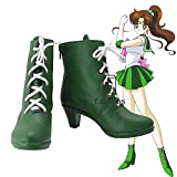 BELUNOT Anime Sailor Moon Sailor Jupiter Green Cosplay Shoes Boots Customized Size 40