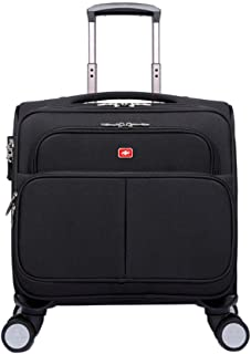 Universal Wheel Luggage Business Trolley Case, Travel Multi-Function Boarding Package 17-inch (Color : Black, Size : 17-inch)