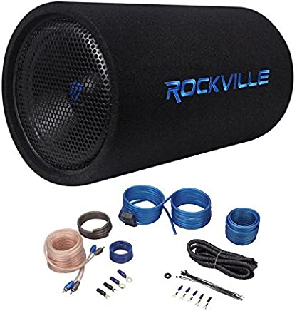 "$104 Get Rockville RTB12A 12"" 600w Powered Subwoofer Bass Remote+Amp Kit"