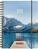 """BRUNNEN 1071850181 """"Steg"""", Wochenkalender/Schülerkalender 2020/2021, 2 Seiten = 1 Woche , Blattgröße 12 x 16 cm  , A6 , PP-Einband"""