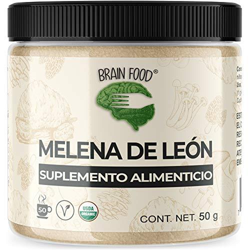 BRAIN FOOD - Melena de León Orgánico en Polvo - Nootrópico Natural 100% -...