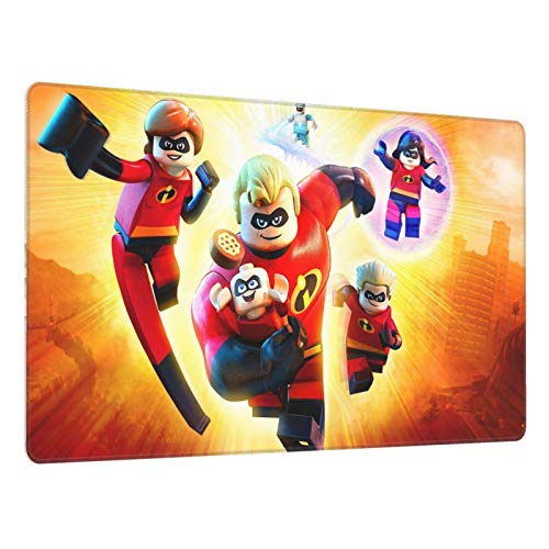 Alfombrilla Ratón Grande Gaming Mouse Pad XL con Superficie Texturizada Impermeable, Base de Goma Antideslizante Lego 750X400X3 mm