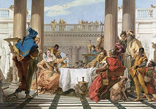 Berkin Arts Giovanni Battista Tiepolo Giclee Canvas Print Paintings Poster Reproduction(The Banquet of Cleopatra)