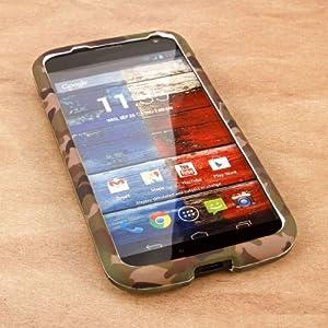Empire Mpero Snapz Series Rubberized Case for Motorola Moto X XT1060/XT1056/XT1053 - Green Camo