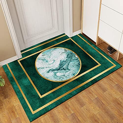 Nuevo tapete antideslizante para puerta, tapete de cuero de PVC de doble capa, alfombra de entrada que absorbe la suciedad, tapetes lavables para interiores, patios, puertas delanteras y traseras