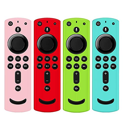 [4 Pack] Remote Cover for Fire TV Stick 4K, Silicone Remote case Compatible with Fire TV Cube/Fire TV(3rd Gen)/All-New 2nd Gen Alexa Voice Remote Control (Multicolor B)