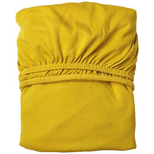 Leander Doppelpack weiches Jersey-Bettlaken für Babybett (würziges gelb)