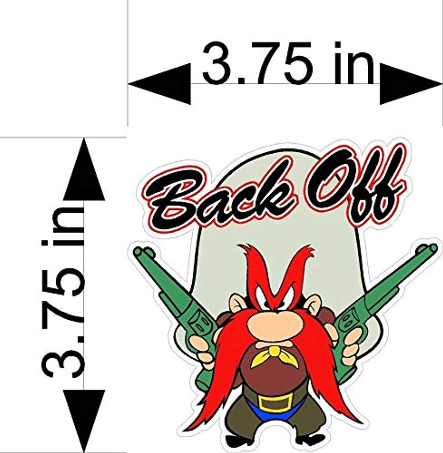 Crazy Discount Yosemite SAM Back Off Vinyl Sticker Decal Outside Inside Using for Laptops Water Bottles Cars Trucks Bumpers Walls, 3.75