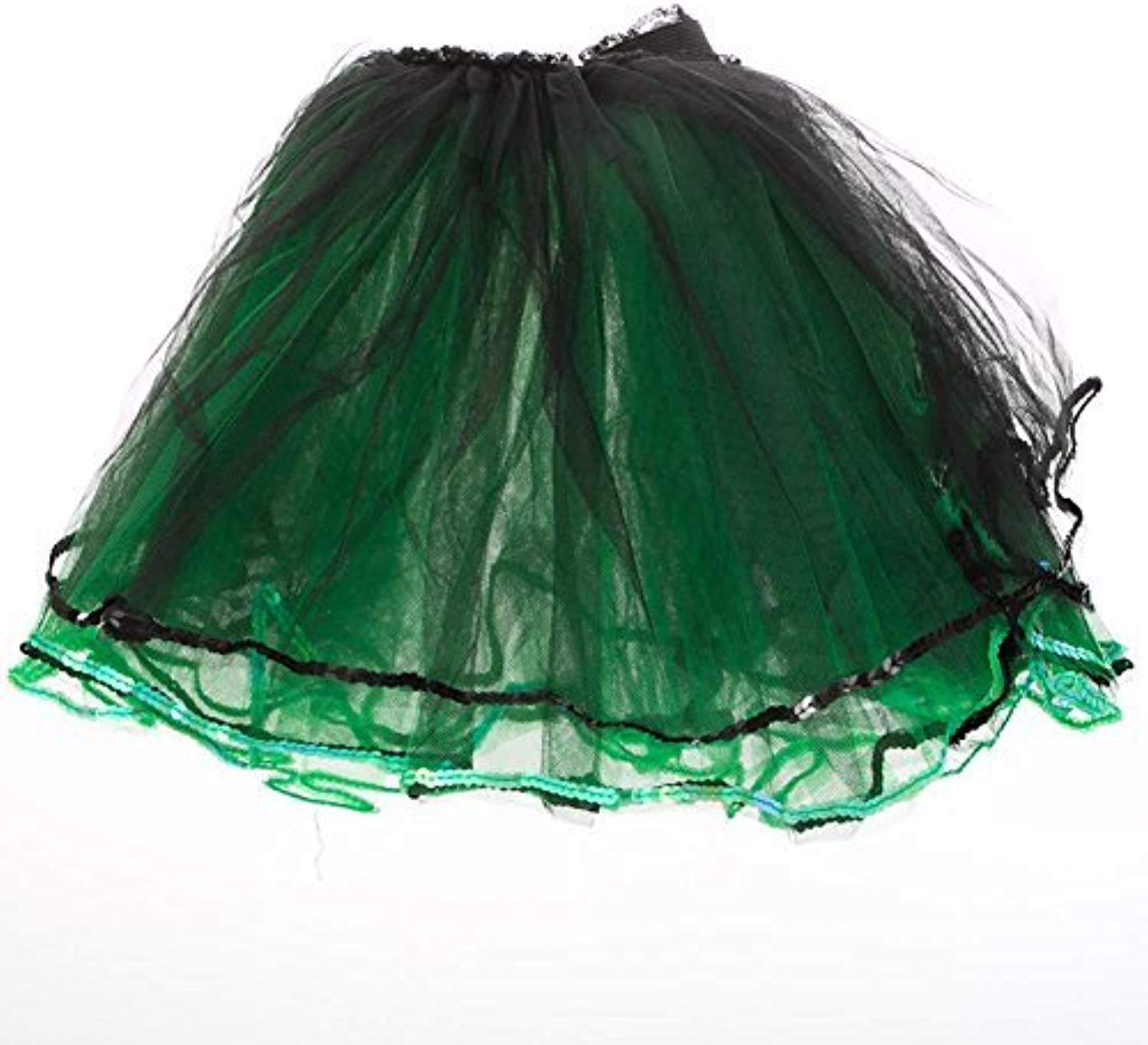 Adult Green and Black Layered Tutu by Cutie Collection