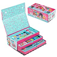 L.O.L. Surprise! Colouring Case With Art Supplies For Kids Includes Colouring Pencils, Felt Tip Pens...