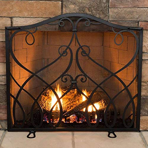 Why Should You Buy fireplace screen LXLA Black Flat with Steel Mesh, Baby Children Safe Fire Guard S...