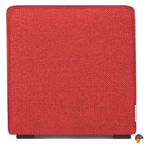 Arketicom Pouf Cube Rouge en Polyurethane Haute Densite` Dimensions 55 x 55 x 45h cm (puf Puff pouff pouffe)