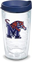Tervis Memphis Tigers Logo Tumbler with Emblem and Navy Lid 16oz, Clear