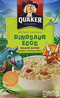 Quaker DINOSAUR EGGS! Brown Sugar Instant Oatmeal, 8 Servings, 14.1 oz box (2... by Quaker