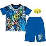 (バンダイ)BANDAI スーパーマリオ 勇気が出る 光るパジャマDX 半袖パジャマ キッズ 男の子【2507393】110cm ブルー