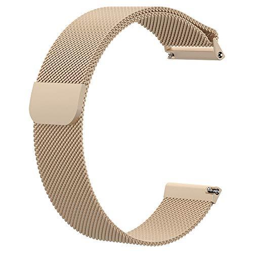 Liwua Correa de Pulsera Milan Fitbit Versa Lite Versa 2 Correa de Cinta de Acero Inoxidable para Fitbit Versa Fitness Watch VITAGEGOLD-S