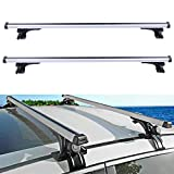 ECCPP Adjustable Length Roof Rack Cross Bar with Locks Roof Rack Cross Bars Luggage Cargo Carrier Rails w/3 Kinds Clamp Fit for 2006-2017 Ford Honda Civic Hyundai Elantra Toyota Camry Dodge Charger
