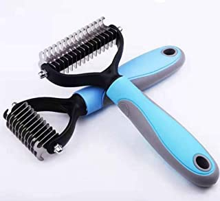 komei Color Pet Grooming Tool, Pet Dematting Comb Grooming Undercoat Rake for Cats, Dogs-Gently Removes Undercoat Knots Ma...