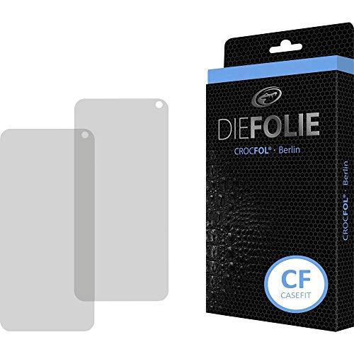 Crocfol Schutzfolie vom Testsieger [2 St.] kompatibel mit Samsung Galaxy S10 - selbstheilende Premium 5D Langzeit-Panzerfolie -inkl. Veredelung - für vorne, hüllenfreundlich