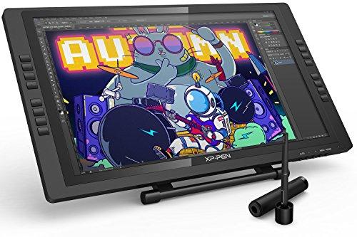 XP-PEN Artist 22E Pro HD IPS Grafikmonitor Drawing Tablet 8192 Druckstufen mit 16 Schnellzugriffstasten unterstützt 4k Monitore PC Gaming Monitore (22E Pro, Schwarz)