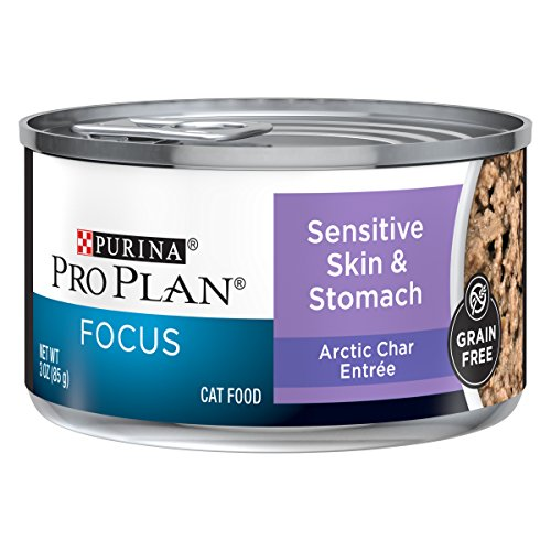 Purina Pro Plan Sensitive Stomach Wet Cat Food, FOCUS Sensitive Skin & Stomach Arctic Char Entree - (24) 3 oz. Pull-Top Cans