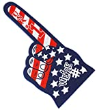 Astek 18 Inch We're Number 1 Finger USA Flag Team Colors Cheerleading Foam Hand Pompom for Olympic Sports