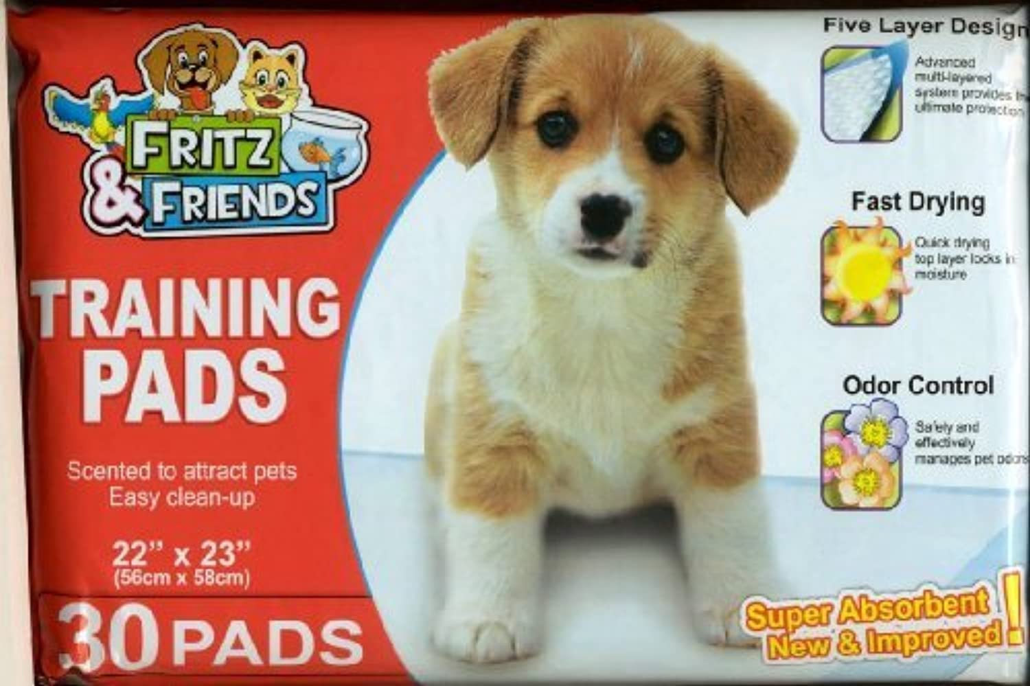 Pet Training Pads By Fritz & Friends 30 Pads  22 X 23 by Fritz & Friends