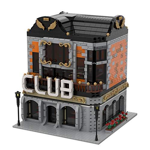 PEXL Haus Bausteine Bausatz, Stadtclub Modular Architektur Modell, 3699 Klemmbausteine Kompatibel mit Lego