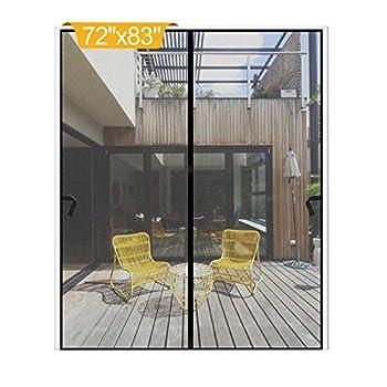 Magnetic Screen Door 72 x 83 inch DIXLAMN Magnet Screen Door Mosquito Door Net with Heavy Duty Fits Door Size up to 70 x81  Max for Entry Door /Exterior Door /Interior Door /Kitchen Door/Patio Door