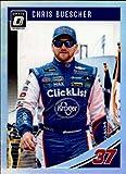 2019 Donruss Racing Optic Holo Parallel #34 Chris Buescher Kroger Click List/JTG Daugherty Racing/Chevrolet Official NASCAR Trading Card by Panini