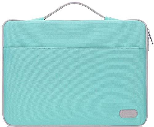 ProCase 13-13.5 Inch Laptop Sleeve Bag Case for Macbook Pro 15'' 2018 2017 2016/ Surface Book/Surface Laptop, most 13' 13.3' 13.5' Laptop Dell Toshiba HP ASUS Acer Chromebook -Mint Green