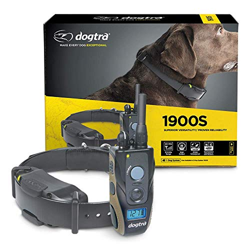 Dogtra 1900S  Ergonomic 3/4-Mile IPX9K Waterproof High-Output Remote Dog Training E-Collar