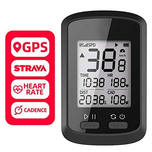 NNGT GPS Bicicletta da Bicicletta Computer da Ciclismo Cronometro Display LCD Impermeabile IPX7 Contachilometri da Ciclismo per Bici da Strada MTB Bicicletta
