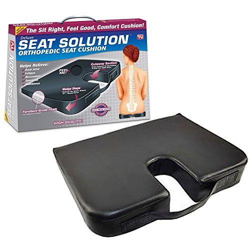 As Seen On Tv Deluxe Solution Orthopedic Seat Cushion, 1.5 Pound