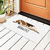 Beagles - Felpudo de entrada (PVC, antideslizante, impermeable, 40 x 60 cm)