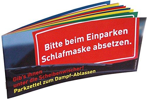 Inkognito Parkzettel zum Dampfablassen • 77080 • 1 x Parkzettel je 12 Abreissblätter 20,7 x 9,5 cm • Künstler Sobunthier • Parkschein • Knöllchen