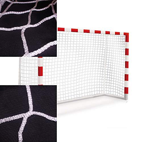Handballtornetze und Futsal tornetze. Zwei-netztore-Set 3x2m. Polypropylenn knotenlos hochfest. Behandlung gegen UV-Strahlen