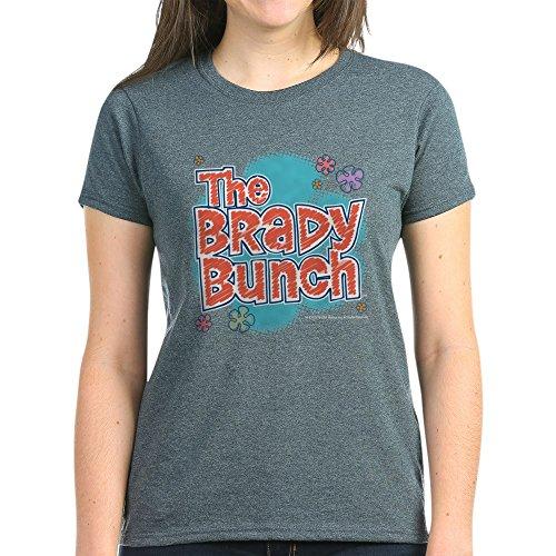 CafePress The Brady Bunch Logo Women's Dark T Shirt Womens Cotton T-Shirt Charcoal Heather