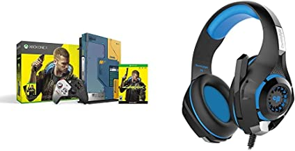 Xbox One X Cyberpunk 2077 Limited Edition Bundle (1TB)&Cosmic Byte GS410 Headphones with Mic and for PS4, Xbox One, Laptop...