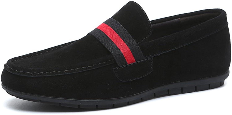 Men's shoes FEIFEI British Style Comfortable Fashion Breathable Non-slip Wear-resistant Casual shoes Lazy shoes (color   Black, Size   EU41 UK7.5-8 CN42)
