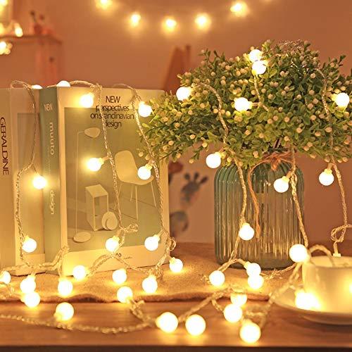 Luces de guirnalda esféricas LED luces de cadena de cuento de hadas luces impermeables decoración de fiesta de Navidad Batería 2m10 leds