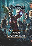 Marvel Avengers Great Coloring Book: 50 Artistic Ilustrations for Kids of All Ages (high resolution pictures)